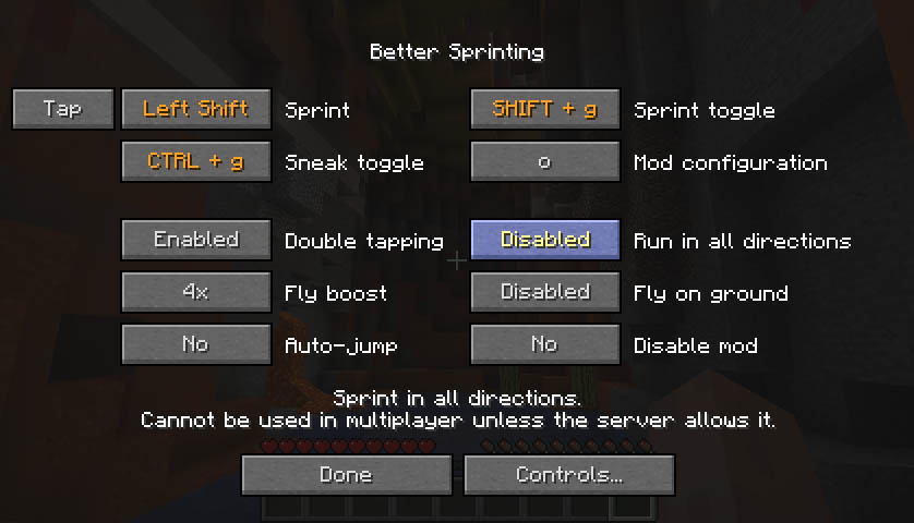 Better Sprinting 1.15.1 and 1.15.2